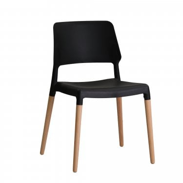 Riva Black Dining Chair Pair