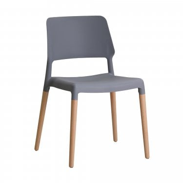 Riva Grey Dining Chair Pair