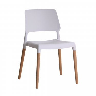 Riva White Dining Chair Pair