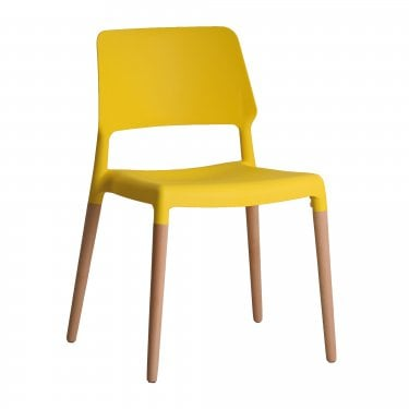 Riva Yellow Dining Chair Pair