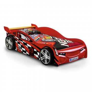 Road Racer Single Kids Bed, Red