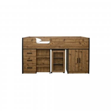 Rocco Oak Single Cabin Bed