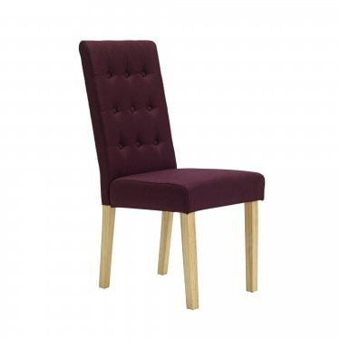 Roma Dining Chair Set Of 2, Plum & Linen