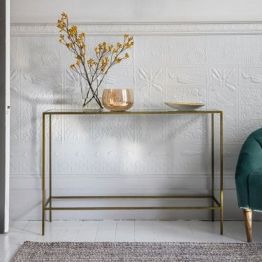 Rothbury Console Table, Antique Bronze