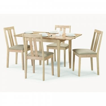 Rufford Dining Set Of 4, Natural Hardwood