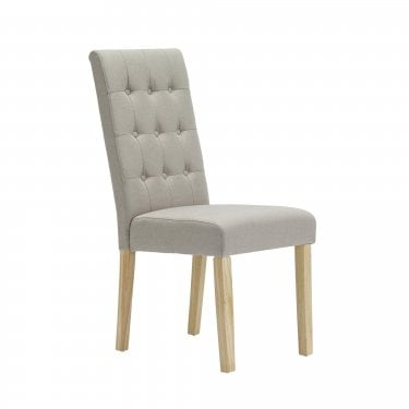Rushton Dining Chair Set Of 2, Beige & Linen