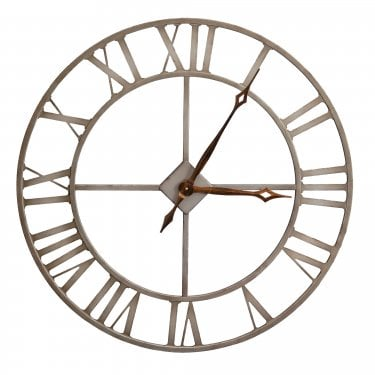Rustic Metal Large Outdoor Clock
