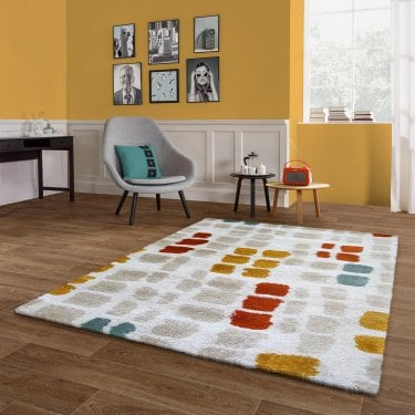 Sahara Multi-Coloured Spots Rug 170x120cm (56212-068-120170)