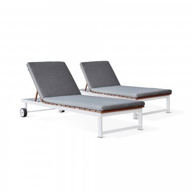 Saint Lucia Sun Lounger Pair