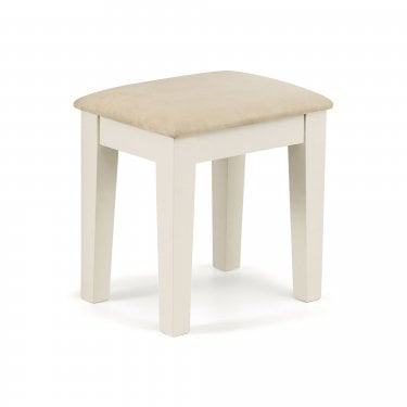 Salem Dressing Table Stool, Stone White
