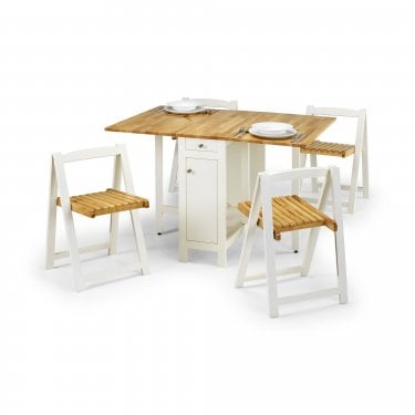 Savoy White & Light Oak Dining Set