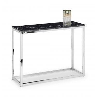 Scala Black Marble Top Console Table