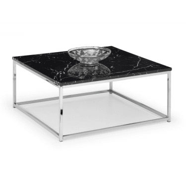 Scala Black Marble Top Square Coffee Table