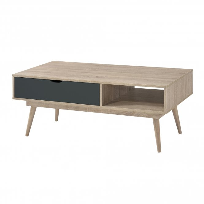 Scandi Rectangular Coffee Table, Grey & Oak