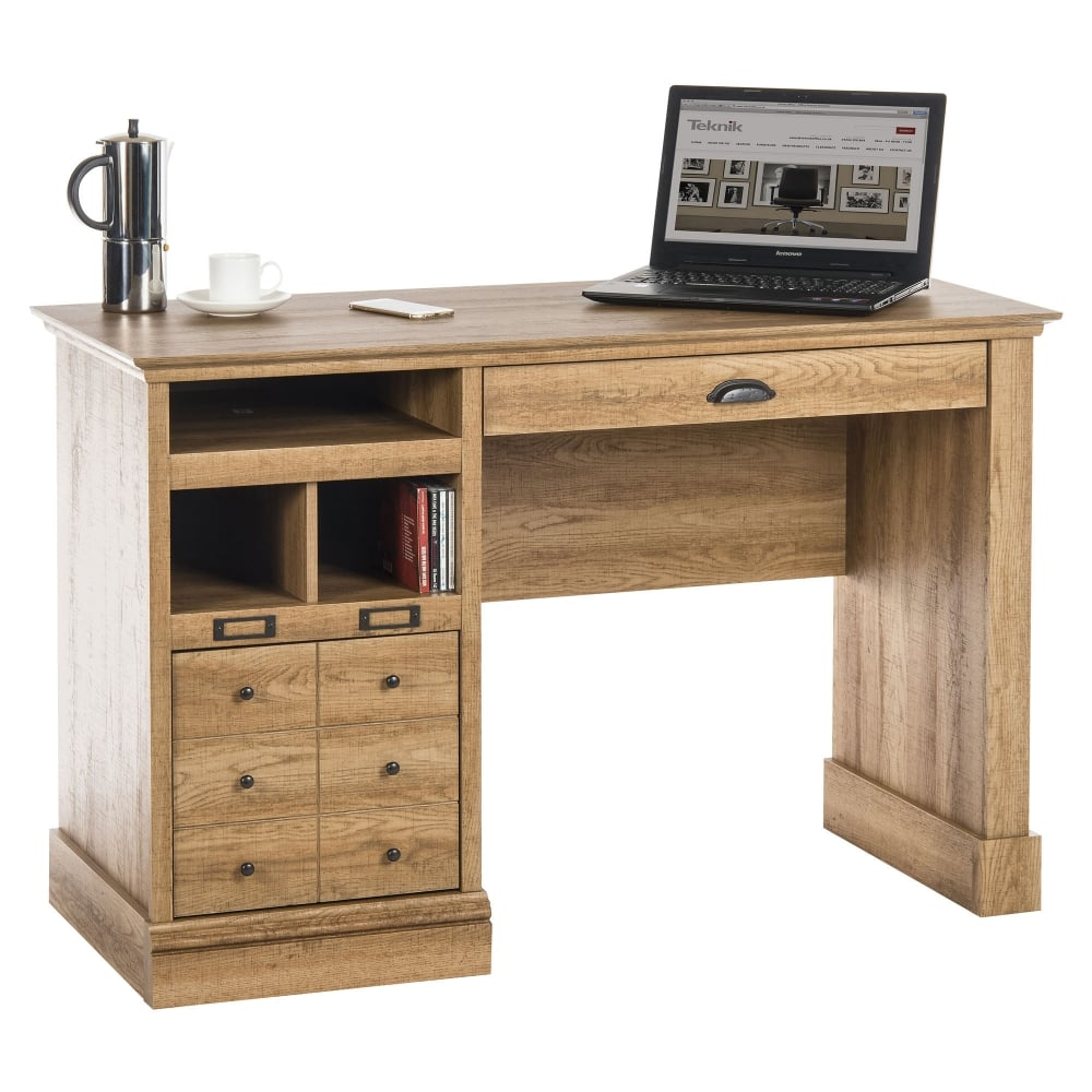 Teknik Scribed Oak Writing Desk Leader Stores