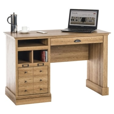 Scribed Oak Writing Desk