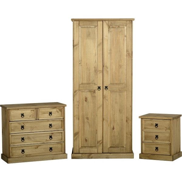 corona distressed waxed pine mexican bedroom set leader stores
