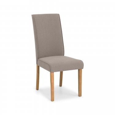 Seville Dining Chair Set Of 2, Taupe Linen