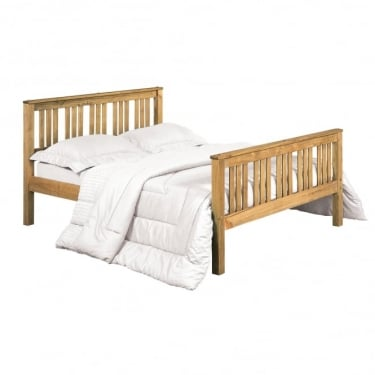 LPD Furniture Shaker Antique Pine Bed