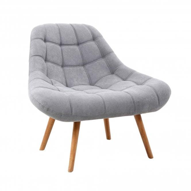 Shell Armchair, Light Grey Fabric