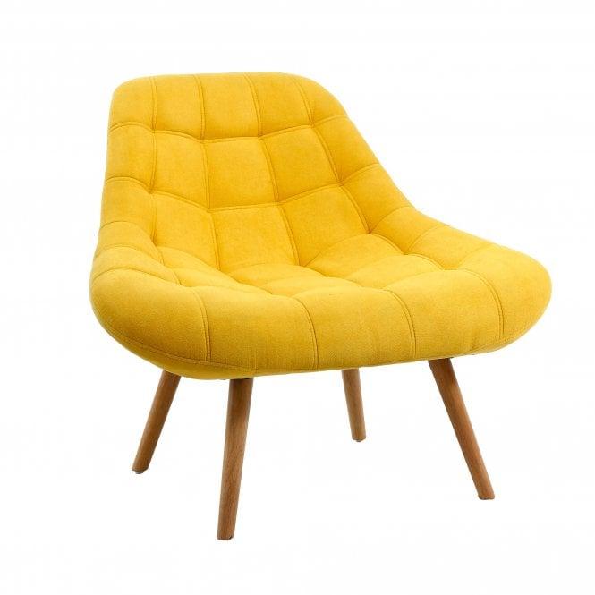 Shell Armchair, Sunny Yellow Fabric