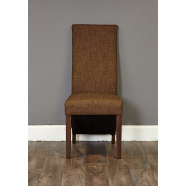Shiro Hazelnut Linen Dining Chair Pair
