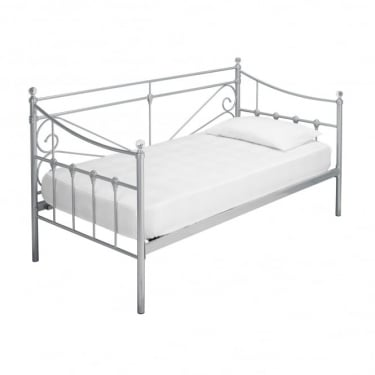 LPD Furniture Sienna Silver Metal Day Bed