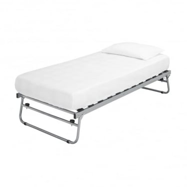 LPD Furniture Sienna Silver Metal Trundle Bed