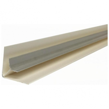 Silver PVC Plastic Cladding Internal Corner