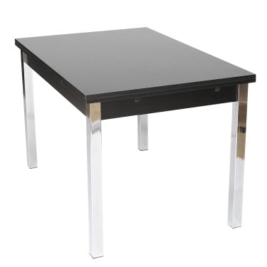 Simone Large Extending Dining Table, Black