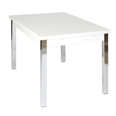 Simone Large Extending Dining Table, White