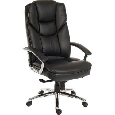 Skyline Black Executive Armchair with Steel Base