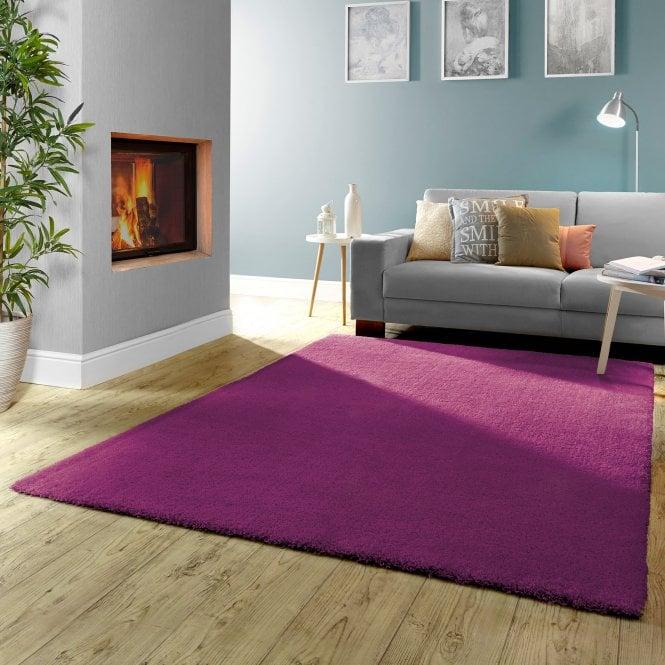 Small Burst Purple Plain Rug 170x120cm (71151-022-120170)