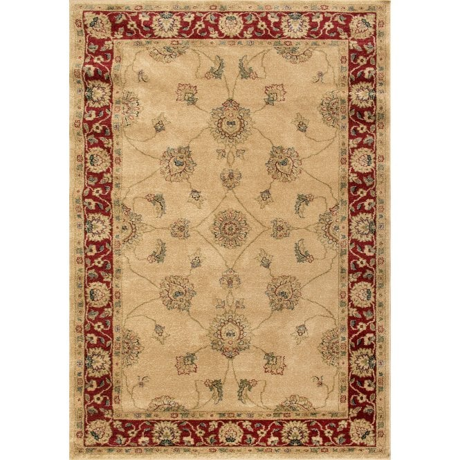 Small Majestic Beige Floral Pattern Rug 170x120cm (26311-160-120170)