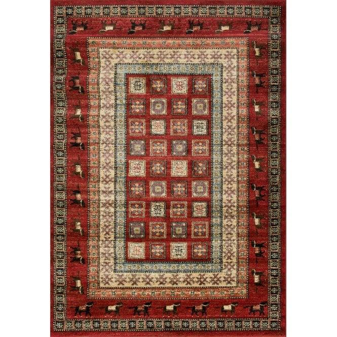 Small Majestic Red Animal Print Rug 170x120cm (26295-710-120170)