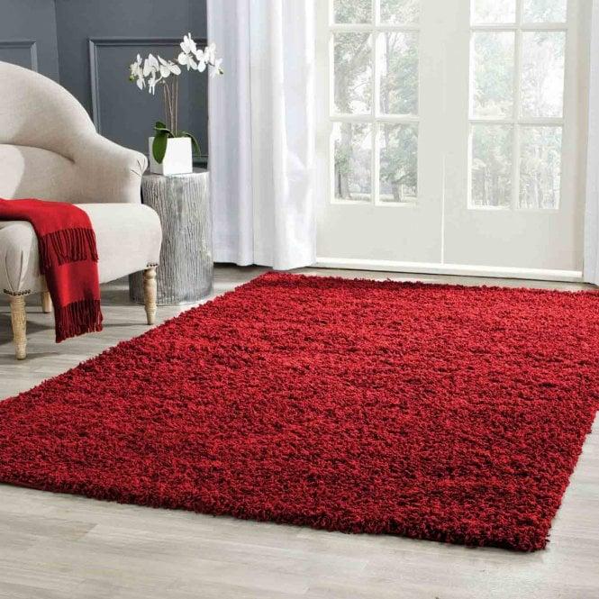 Small Sunshine Red Shaggy Rug 150x80cm (70071-010-80150)