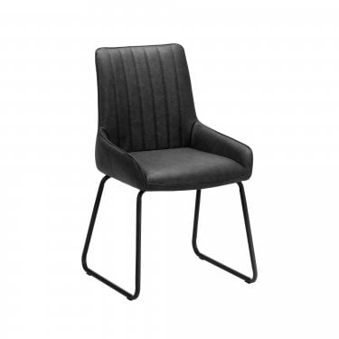 Soho Antique Black Dining Chair