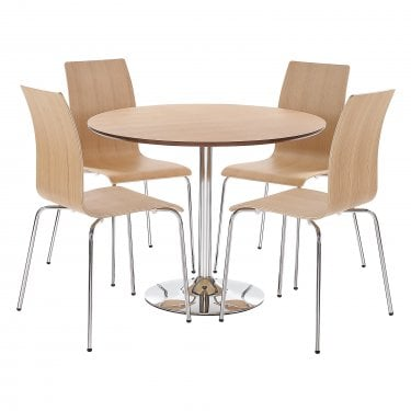 Soho Dining Set, Oak Veneers