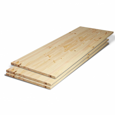 Solid Redwood Pine 27mm Furniture Board