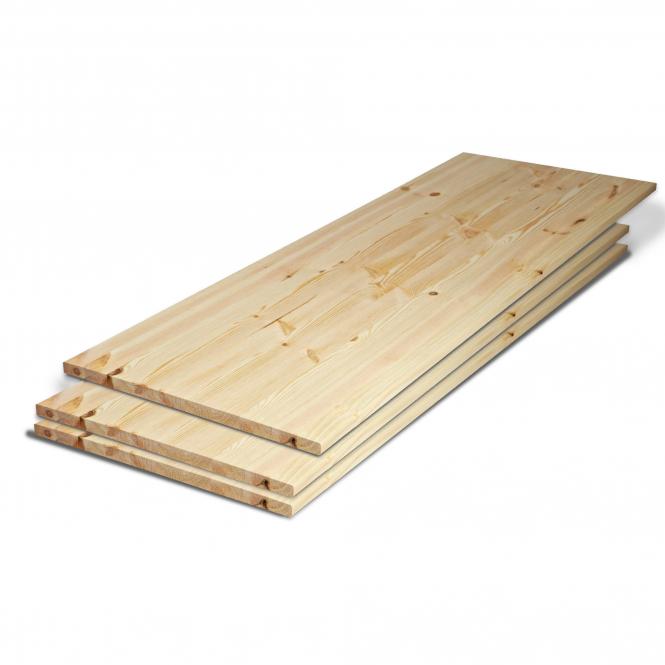 Solid Redwood Pine 27mm Furniture Board, Redwood Pine