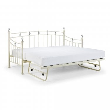 Sophie Stone White Single Trundle Bed
