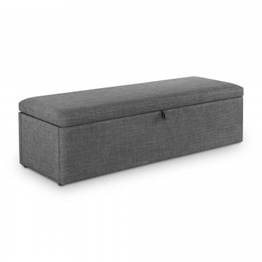Sorrento Slate Grey Linen Blanket Box
