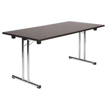 Space Wenge Folding Executive Table with Chrome Frame