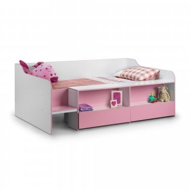 Stella Matt White & Pink Single Low Sleeper