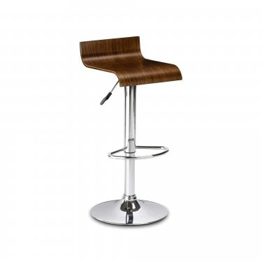Stratos Walnut Bar Stool