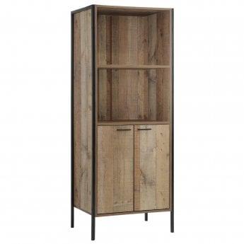 Stretton 2 Door Bookcase, Distressed Oak