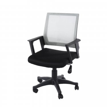 Studio Home Office Chair Set Of 2, Black & Grey Mesh