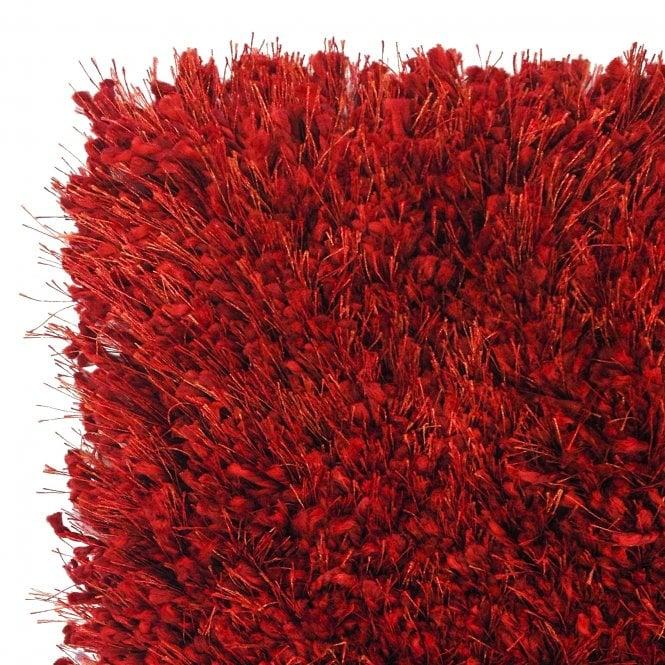 Sunshine Soft Red Shaggy Rug 170x120cm (57201-010-120170)