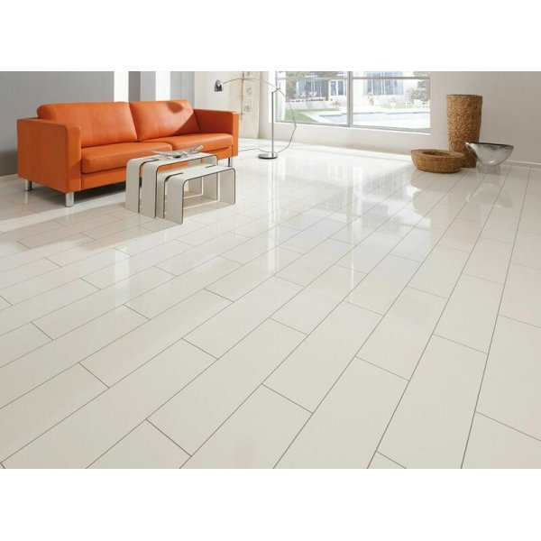 Elesgo supergloss v5 white ac3 laminate flooring for White laminate flooring