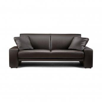 Supra Black Faux Leather Sofa Bed | Julian Bowen | Leader Stores